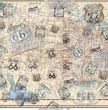 Truck Route Maps Transportation Clipart Of A Route 66 Map Truck And Motorcycle