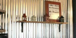 Interior Corrugated Metal Wall Panels Remodelaholic Diy Corrugated Tin Wall Tutorial