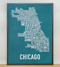 Neighborhood Map Of Chicago by Chicago Neighborhood Map Art Print Features Local Pride Ork