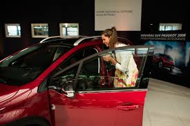 what car peugeot 2008 lady in red peugeot 2008 delivered to miss france 2016