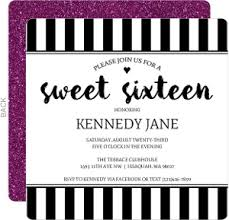black and white invitations sweet sixteen invitations sweet 16 birthday party invitations