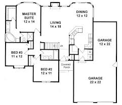 1449 Sq Ft 3rd Garage Bay Can Become Studio For The Home Floor Plans With Garage