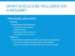 What Should Be Resume Name Resume Writing Creating An Effective Resume What Is A Resume