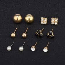 design modeschmuck ohrringe set modeschmuck kristall perlen ohrstecker design glitzer