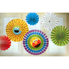 sesame decorations opentip sesame 1st bday paper fan decoration seasame