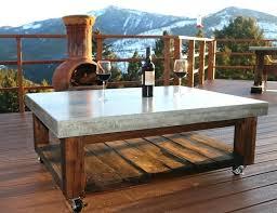 concrete wood table top concrete top coffee table concrete coffee table patio concrete top