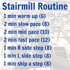 workout wednesday stairmill routine