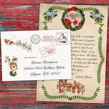 personalized letter from santa personalized christmas letter from santa claus official pole