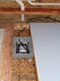 can an electrical subpanel go underneath plumbing home