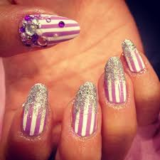 wah nails cute custom candy stripes by wah gurly kim