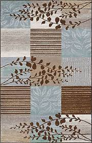 Brown And Blue Area Rug by Modern 8x10 Area Rug Contemporary Carpet Blue Brown Branch 8x10