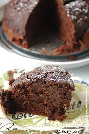 baking coffee chocolate cake with pure raw cacao powder vegas