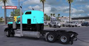 kenworth dealer kenworth w900 light blue black mod ats mod american truck