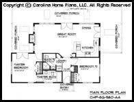 Carolina Home Plans Small Stone Craftsman Bungalow House Plan Chp Sg 979 Ams Sq Ft