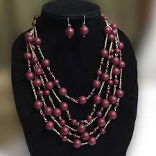 color bead necklace images Sophia kate jewelry sophia kate maroon color beads necklace jpg