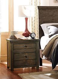 homelegance hardwin night stand weathered grey rustic brown 1809
