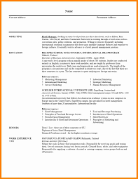 Sample Resume For Hotel Management by 100 Resume Sample For Management Position Sample Resume