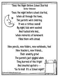 twas the before school poem freebie by just reed tpt