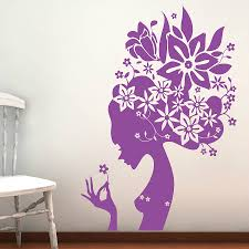 wall stickers flowers color the walls of your house wall stickers flowers flower girl wall stickers by parkins interiors notonthehighstreet