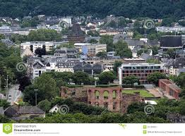 Trier Germany Map by Roman Bath Ruins Trier Germany Stock Image Image 1066881