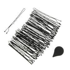 kirby grips scunci 48 pack black non slip hair grips s