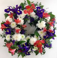 flower wreath mixed flower wreath scents of style florist
