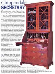 Furniture Secretary Desk Cabinet by Chippendale Secretary Desk Plans U2022 Woodarchivist