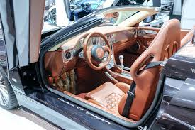 spyker interior spyker c8 preliator spyder arrives in ny under koenigsegg power