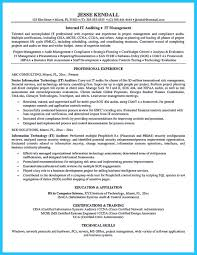 Crna Resume Examples Cool Understanding A Generally Accepted Auditor Resume Check More