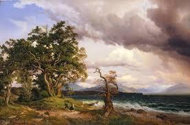 file georg heinrich crola a thunderstorm on lake chiemsee jpg