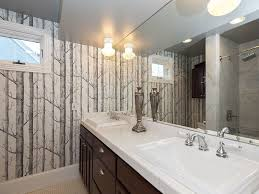 traditional full bathroom with tiled wall showerbath u0026 rain shower