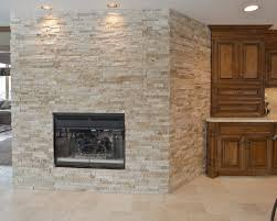 stacked stone fireplace kitchen traditional with direct vent