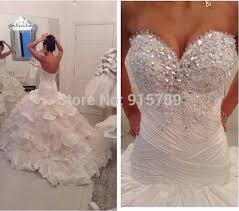 bling wedding dresses find more wedding dresses information about gorgeous bling wedding