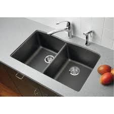 B Diamond WhiteColor Undermount Double Bowl Kitchen Sink - Kitchen sinks blanco