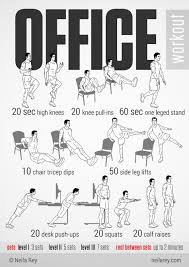 Office Workouts At Desk Activate Those Resolutions At Work Get Me Healthy Pinterest