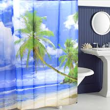 Tropical Beach Shower Curtains by Hawaii Tropical Palm Tree Summer Beach Polyester Shower Curtain