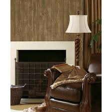 Faux Wood Wallpaper by Chesapeake Chinking Chestnut Wood Panel Wallpaper Tll51011 The