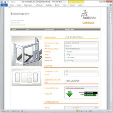 solidworks costing estimate part manufacturing costs u0026 generate