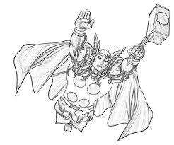 Thor Superhéros  Coloriages à imprimer