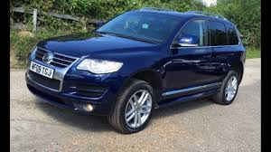 volkswagen touareg blue used volkswagen touareg altitude blue cars for sale motors co uk