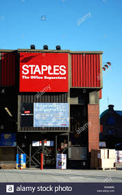 staples office stationery superstore uk stock photo