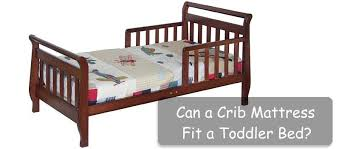 Thin Crib Mattress Can A Crib Mattress Fit A Toddler Bed Insidebedroom