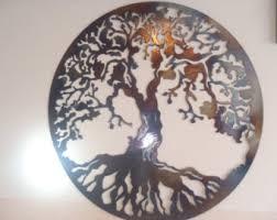 Metal Wall Decoration Tree Of Life Metal Wall Decor Metal Art Heat Colored