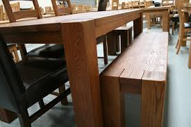 Oak Dining Room Tables And Chairs by Boston Dark Oak Dining Furniture Chunky Benches U0026 Tables