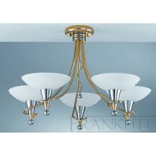 Italian Ceiling Lights Franklite Asti Pe7015 Italian Gold Semi Flush Ceiling Light