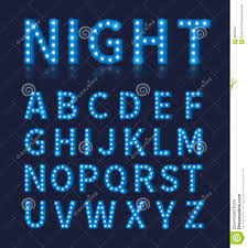 blue free light bulbs vintage blue light bulb l font or alphabet stock vector