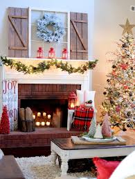 farmhouse christmas mantel love everything about this