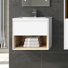 coast designer gloss white bathroom furniture collection with radiator