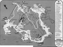 Goldrusher Six Flags Magic Mountain Scvhistory Com Sr9613 Magic Mountain Park Map 1971