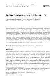 native american healing traditions pdf download available